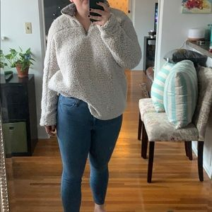 NWT thread & supply Sherpa Pullover